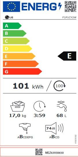 Etiqueta de Eficiencia Energética - F1P1CY2W