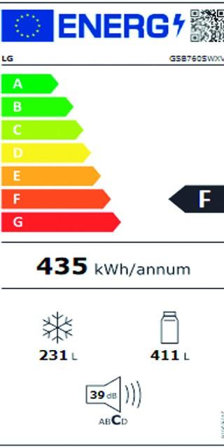 Etiqueta de Eficiencia Energética - GSB760SWXV