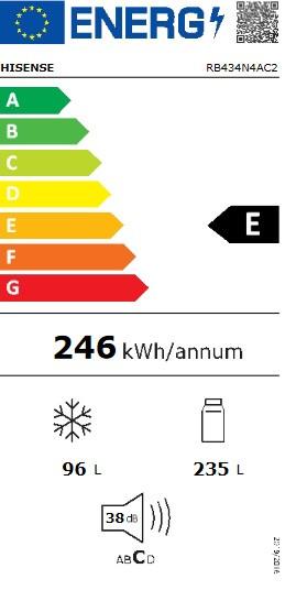 Etiqueta de Eficiencia Energética - RB434N4AC2