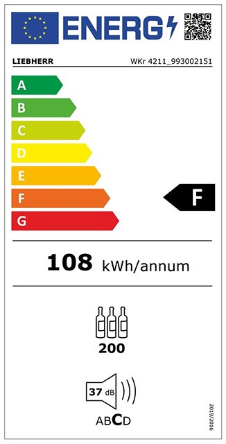 Etiqueta de Eficiencia Energética - WKR4211