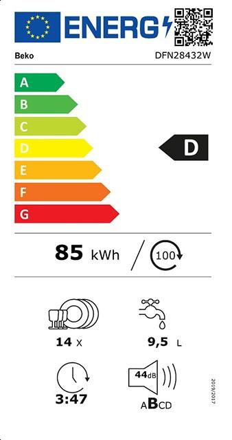 Etiqueta de Eficiencia Energética - DFN28432W