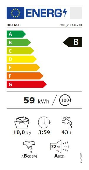 Etiqueta de Eficiencia Energética - WFQY1014EVJM