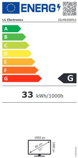 Etiqueta de Eficiencia Energética - 32LM6300PLA