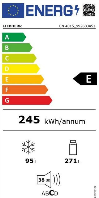 Etiqueta de Eficiencia Energética - CN4015
