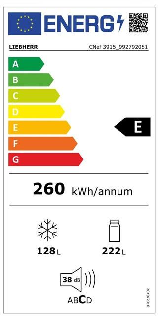 Etiqueta de Eficiencia Energética - CNEF3915