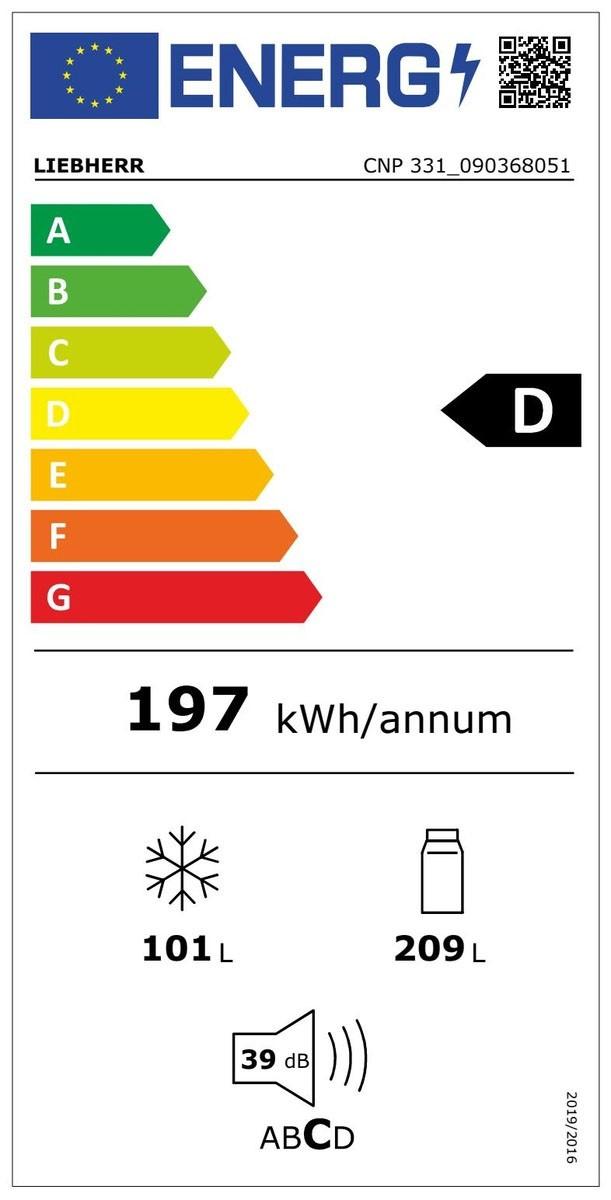 Etiqueta de Eficiencia Energética - CNP331