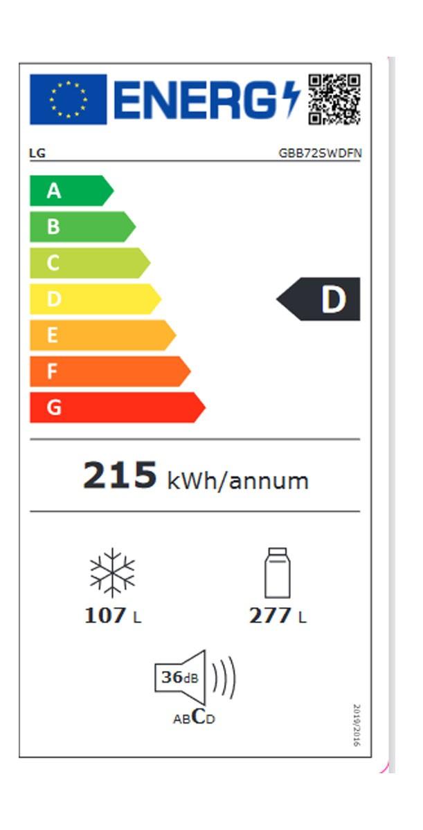 Etiqueta de Eficiencia Energética - GBB72SWDFN