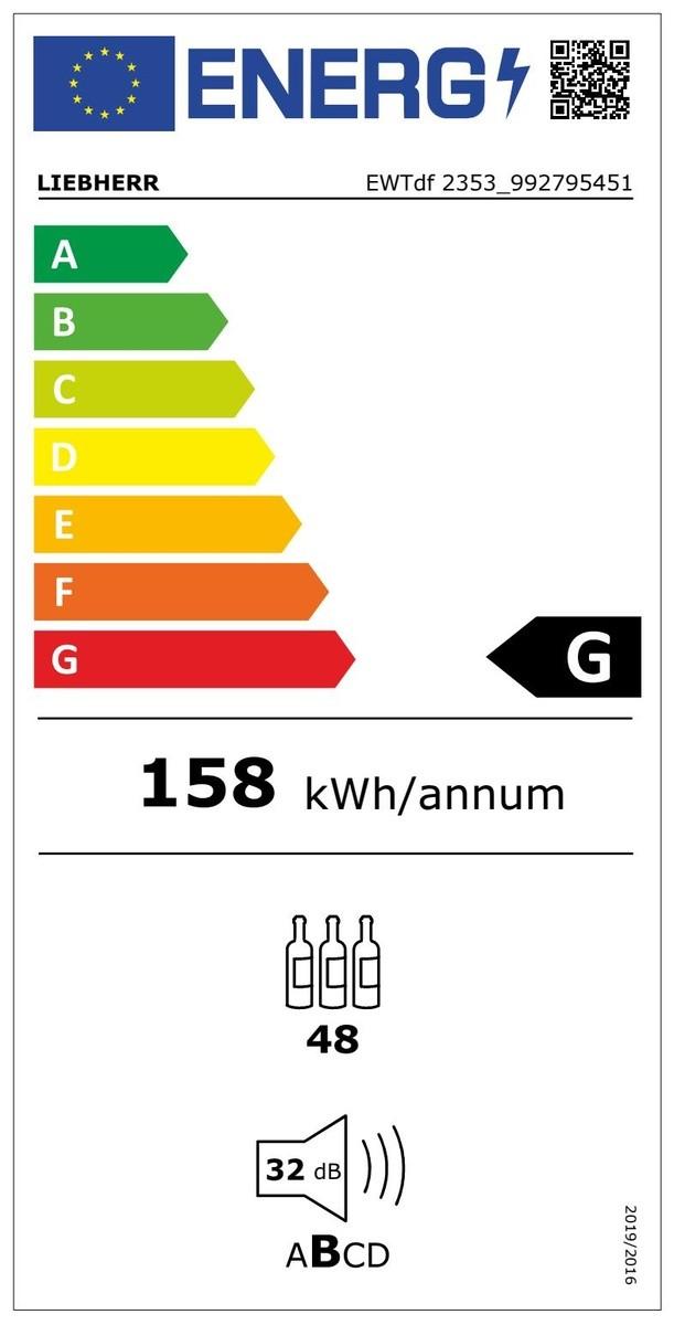 Etiqueta de Eficiencia Energética - EWTDF2353