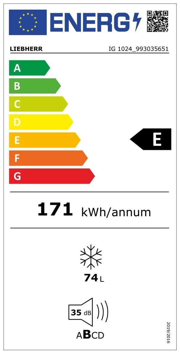 Etiqueta de Eficiencia Energética - IG1024