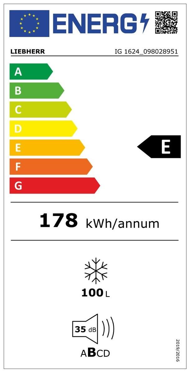 Etiqueta de Eficiencia Energética - IG1624