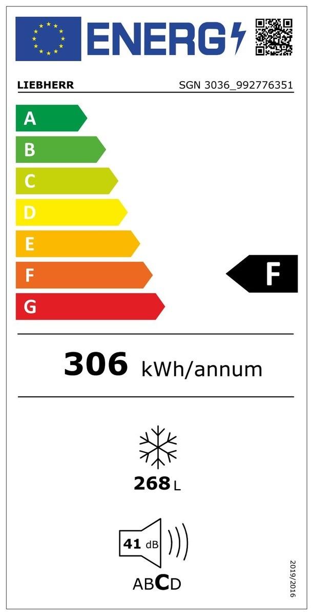 Etiqueta de Eficiencia Energética - SGN3036