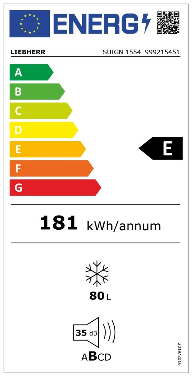 Etiqueta de Eficiencia Energética - SUIGN1554