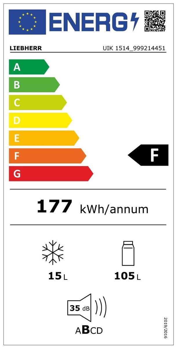 Etiqueta de Eficiencia Energética - UIK1514
