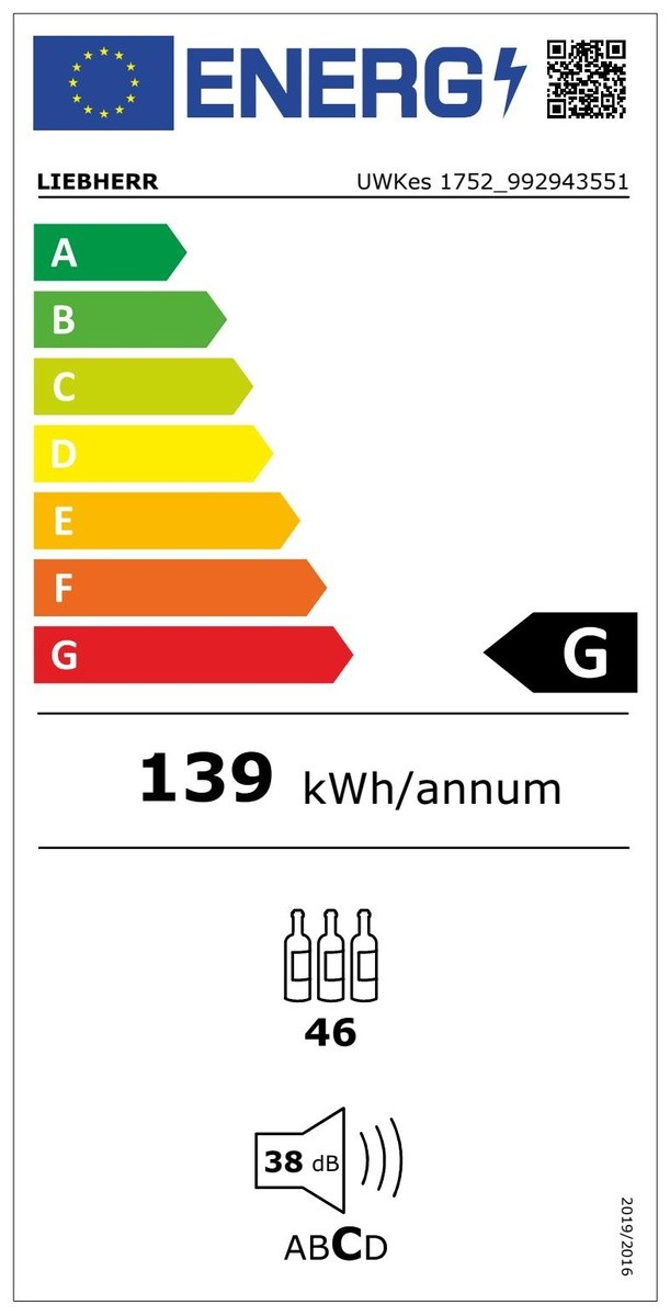 Etiqueta de Eficiencia Energética - UWKES1752