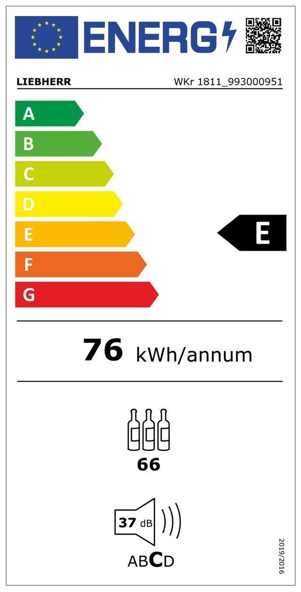 Etiqueta de Eficiencia Energética - WKR1811