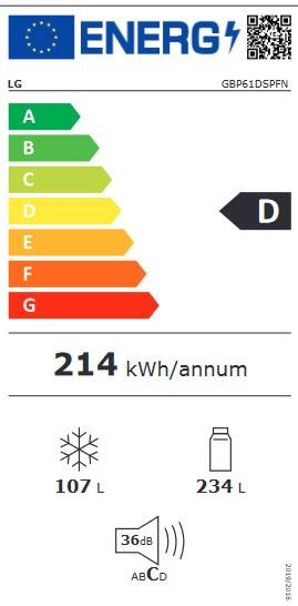 Etiqueta de Eficiencia Energética - GBP61DSPFN