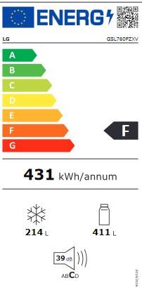 Etiqueta de Eficiencia Energética - GSL760PZXV