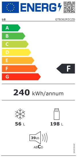Etiqueta de Eficiencia Energética - GTB362SHCZD