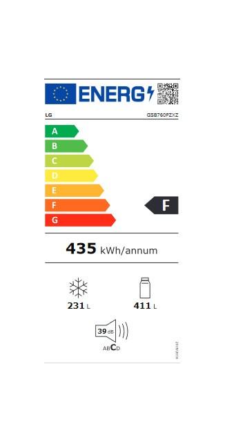 Etiqueta de Eficiencia Energética - GSB760PZXZ