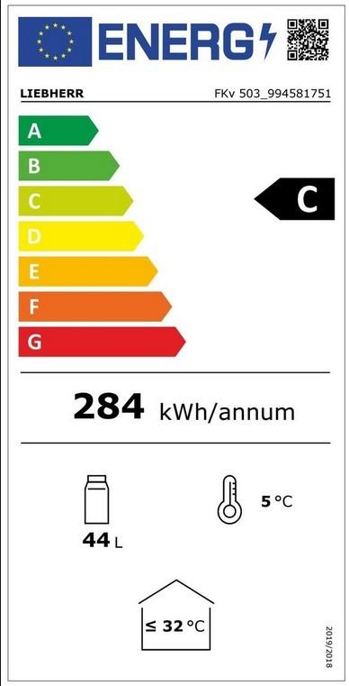 Etiqueta de Eficiencia Energética - FKV503