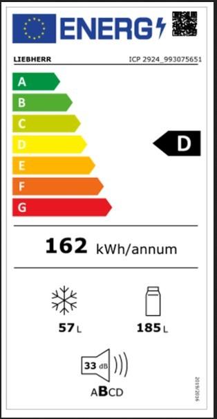 Etiqueta de Eficiencia Energética - ICP2924