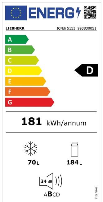 Etiqueta de Eficiencia Energética - ICNDI 5153