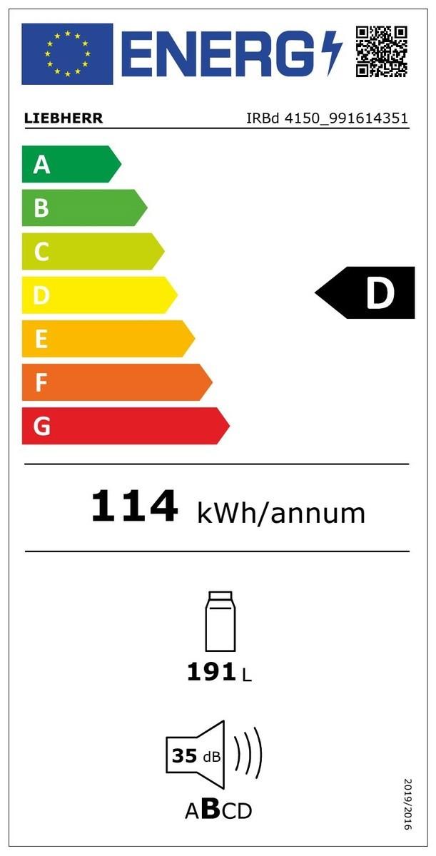 Etiqueta de Eficiencia Energética - IRBD 4150
