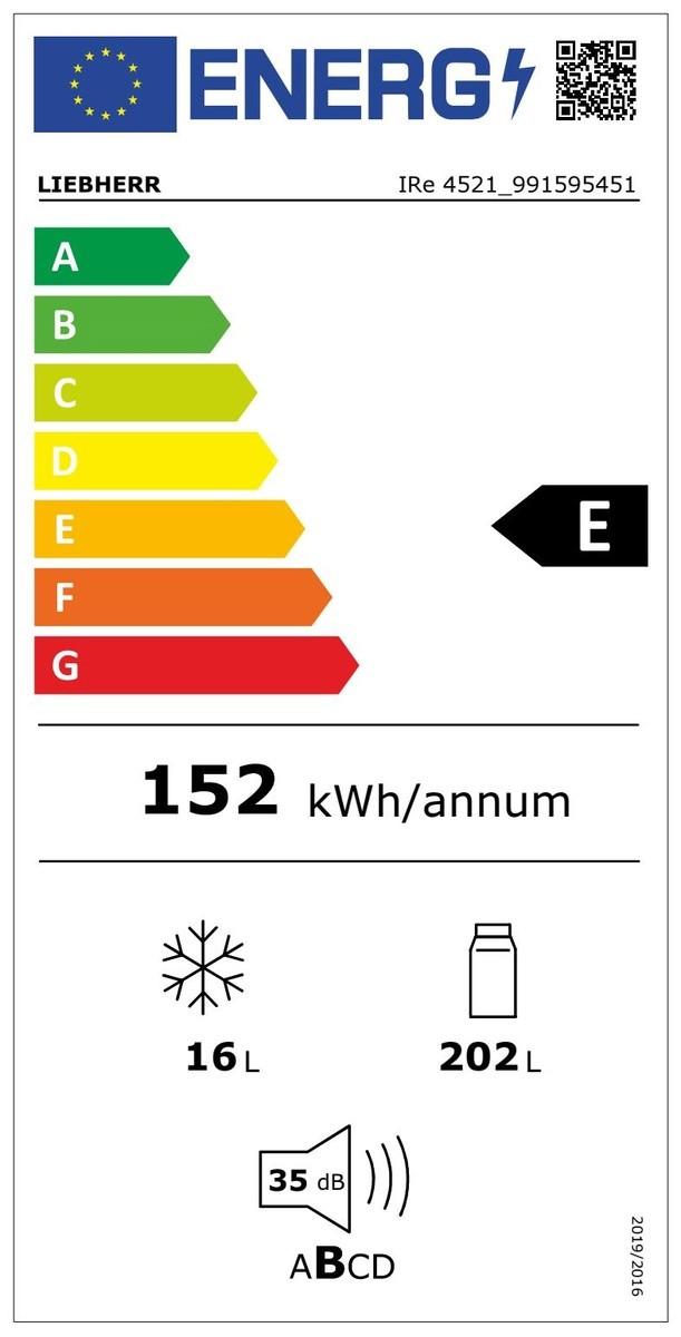 Etiqueta de Eficiencia Energética - IRE 4521