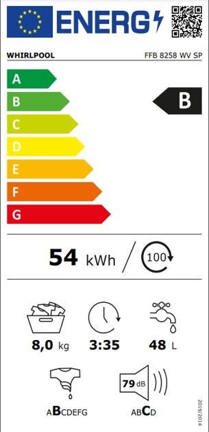 Etiqueta de Eficiencia Energética - FFB 8258 WV SP