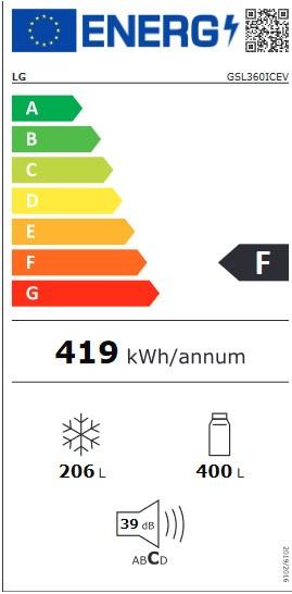 Etiqueta de Eficiencia Energética - GSL360ICEV