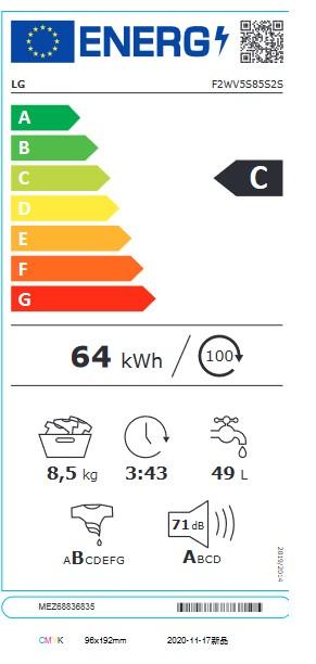 Etiqueta de Eficiencia Energética - F2WV5S85S2S