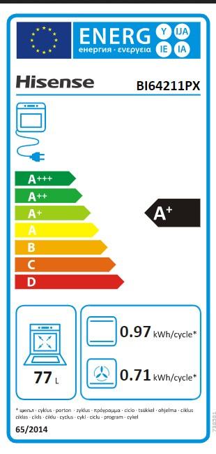 Etiqueta de Eficiencia Energética - BI64211PX