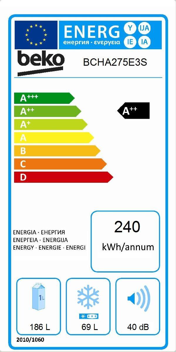 Etiqueta de Eficiencia Energética - BCHA275E3S