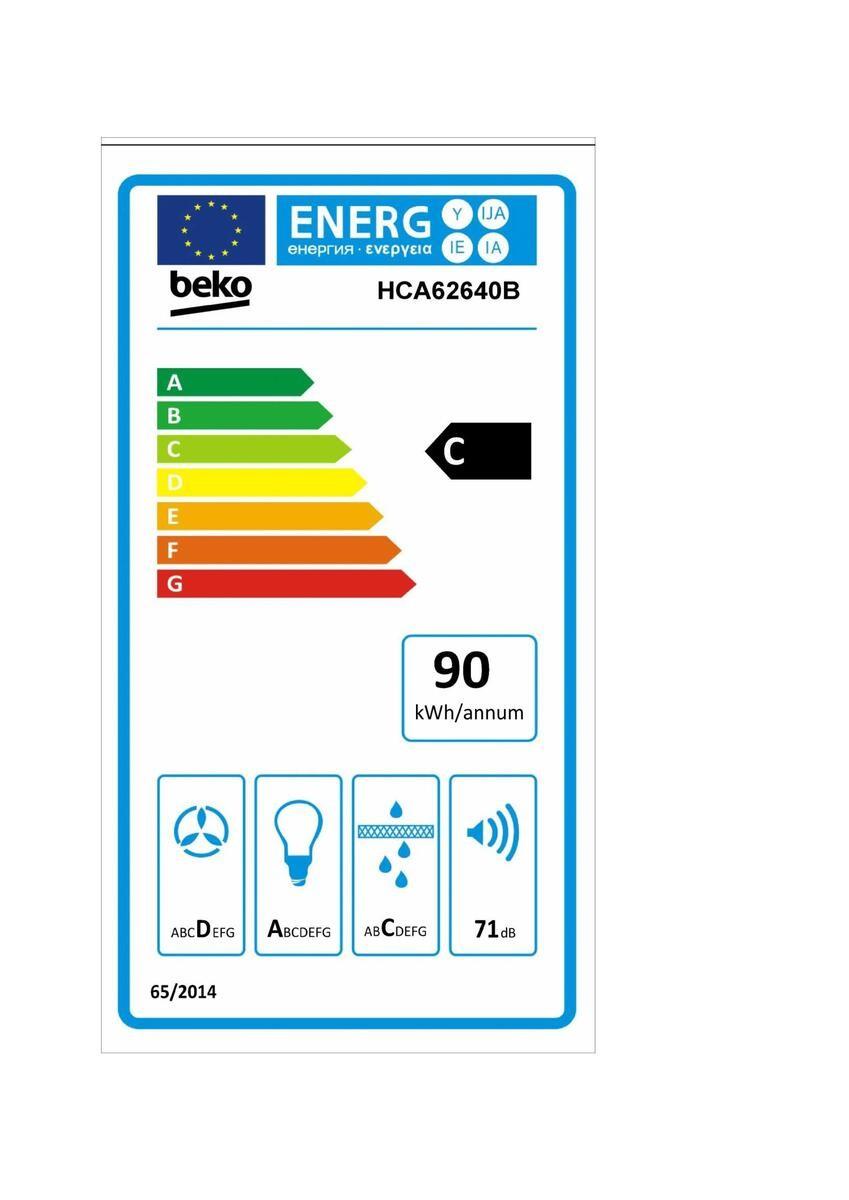 Etiqueta de Eficiencia Energética - HCA62640B