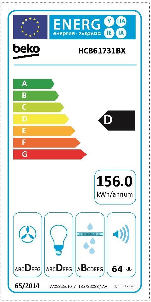 Etiqueta de Eficiencia Energética - HCB61731BX