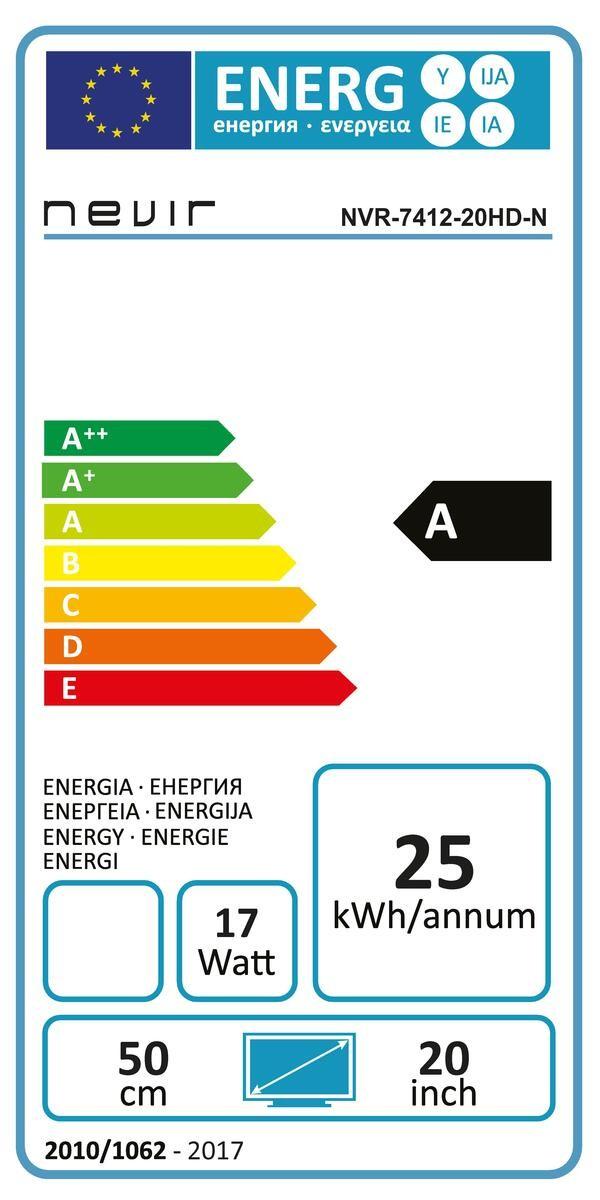 Etiqueta de Eficiencia Energética - NVR741220HDN