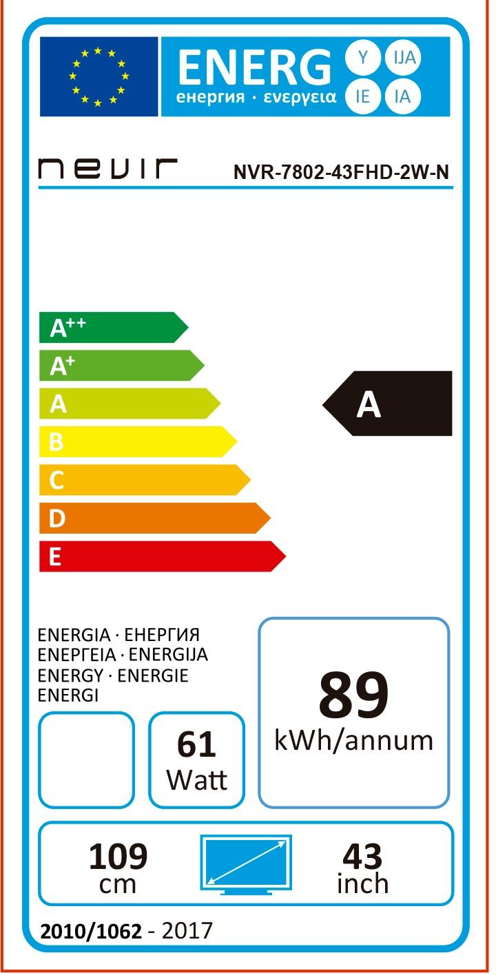 Etiqueta de Eficiencia Energética - NVR780243FHD2WN