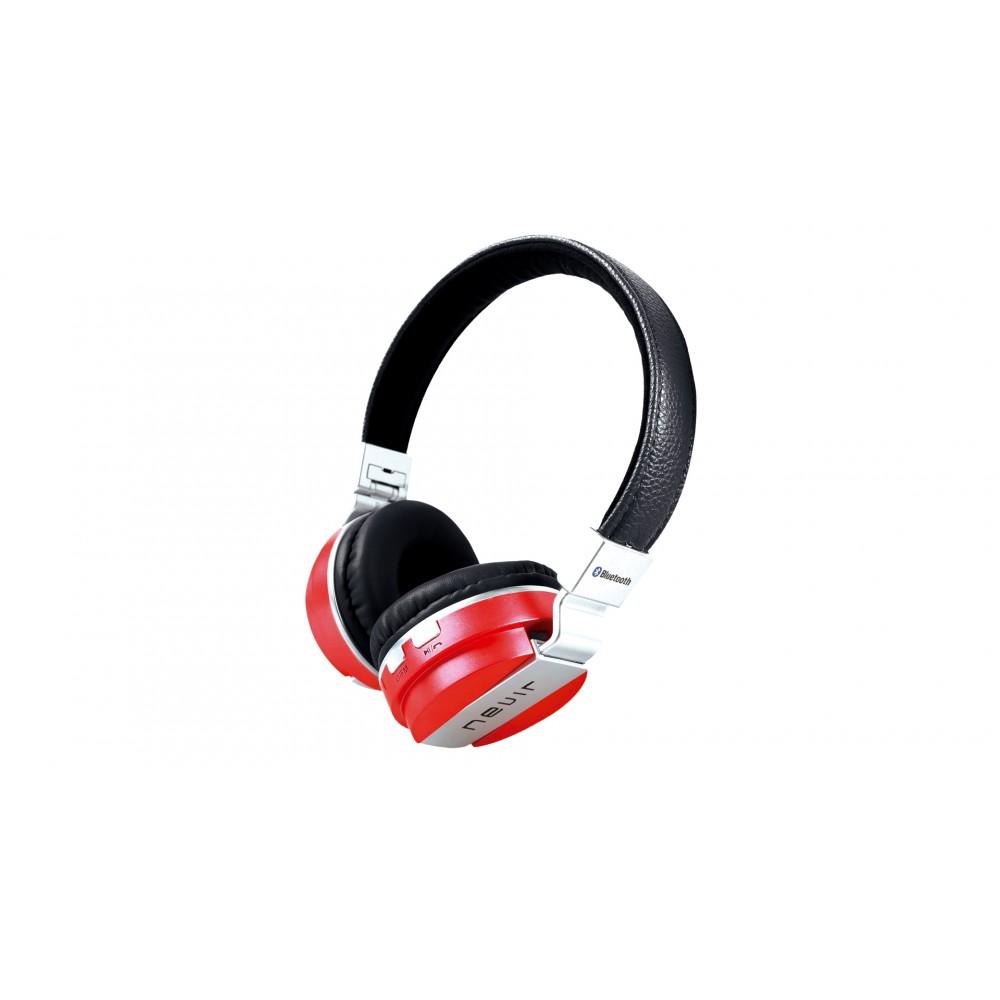 Auricular Diadema NEVIR NVR-945BH Rojo