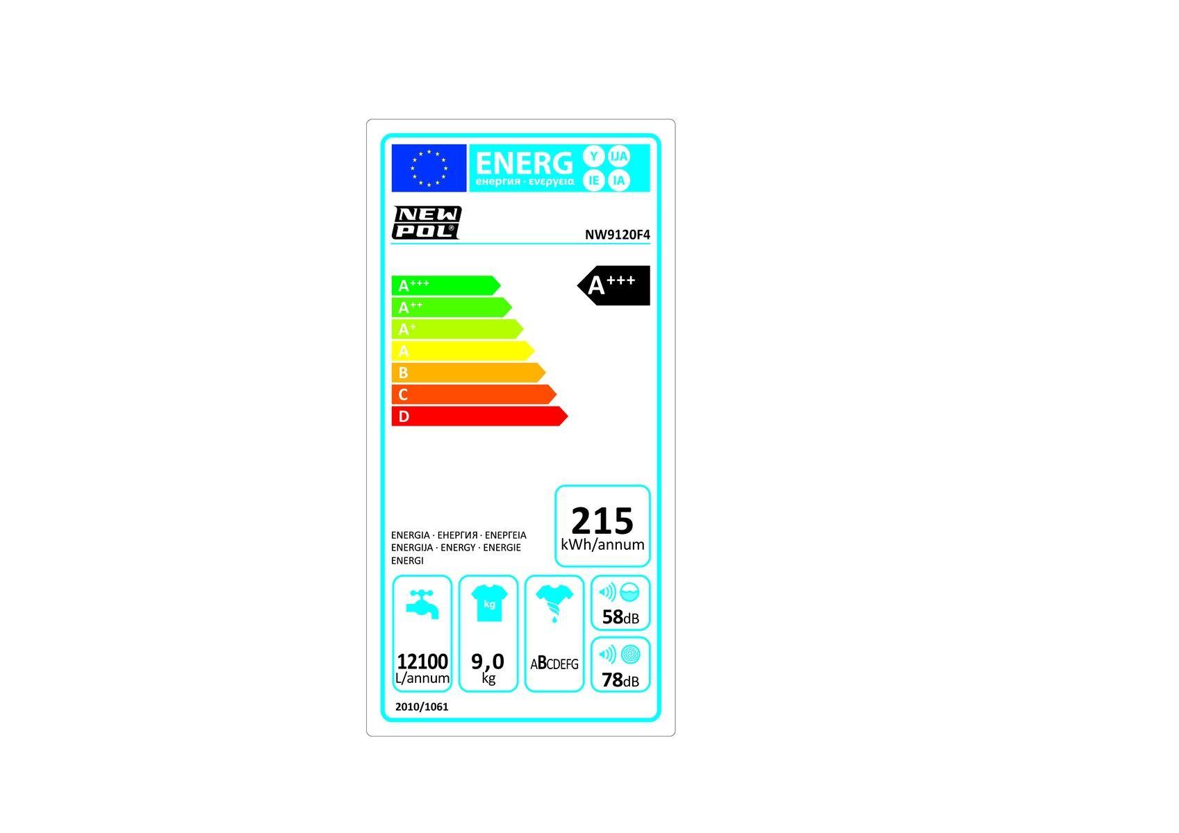 Etiqueta de Eficiencia Energética - NW9120F4