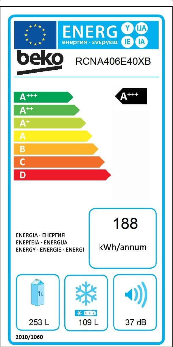 Etiqueta de Eficiencia Energética - RCNA406E40XB