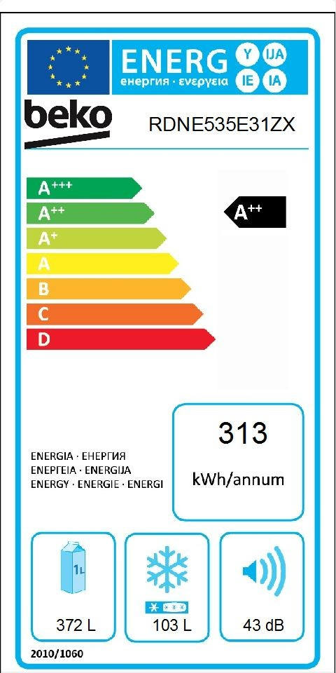 Etiqueta de Eficiencia Energética - RDNE535E31ZX