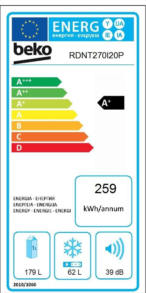 Etiqueta de Eficiencia Energética - RDNT270I20W