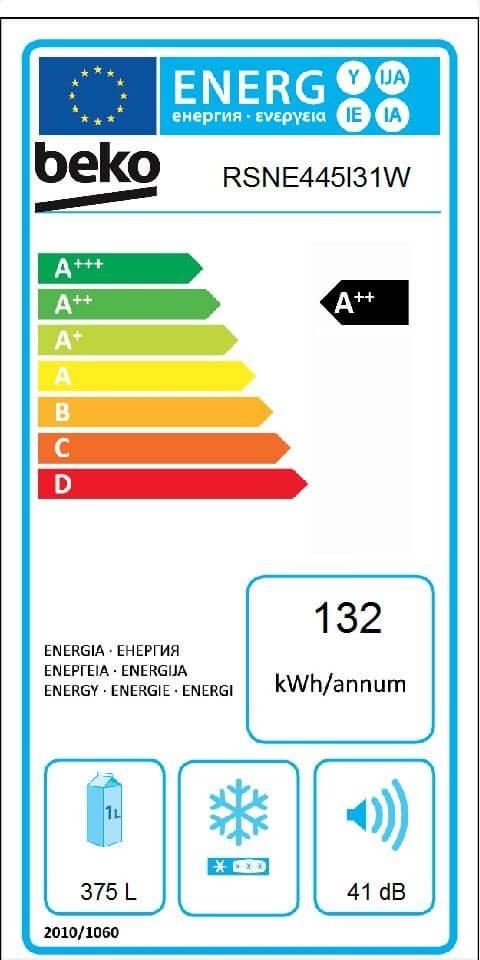 Etiqueta de Eficiencia Energética - RSNE445I31W