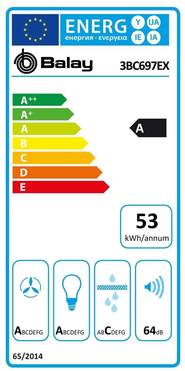 Etiqueta de Eficiencia Energética - 3BC697EX