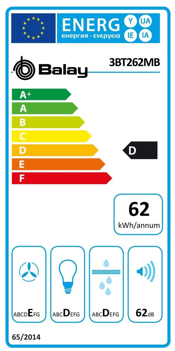 Etiqueta de Eficiencia Energética - 3BT262MB