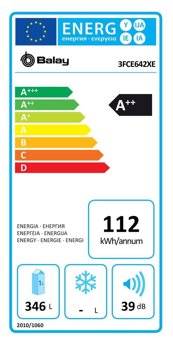 Etiqueta de Eficiencia Energética - 3FCE642XE