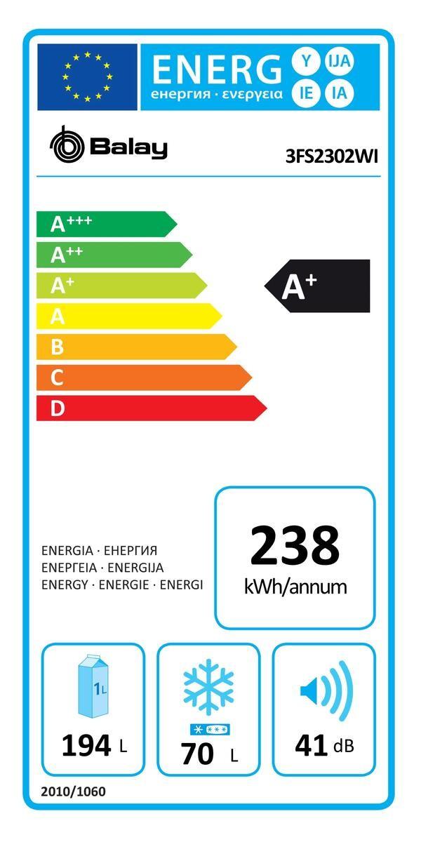 Etiqueta de Eficiencia Energética - 3FS2302WI
