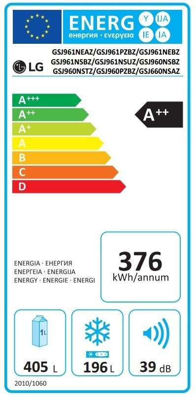 Etiqueta de Eficiencia Energética - GSJ960NSBZ