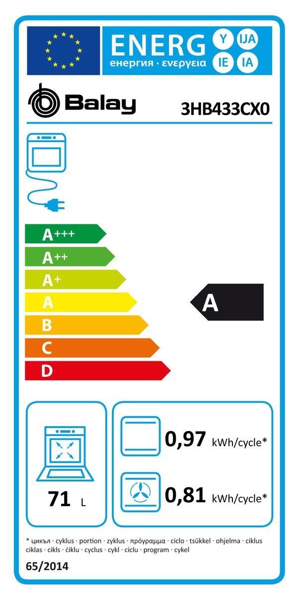 Etiqueta de Eficiencia Energética - 3HB433CX0