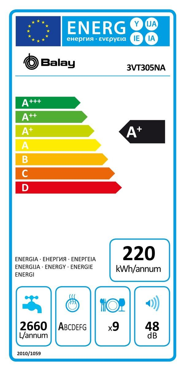 Etiqueta de Eficiencia Energética - 3VT305NA